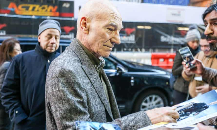 'There is one thing you can do. Fight, fight; oppose, oppose' … Patrick Stewart in New York.
