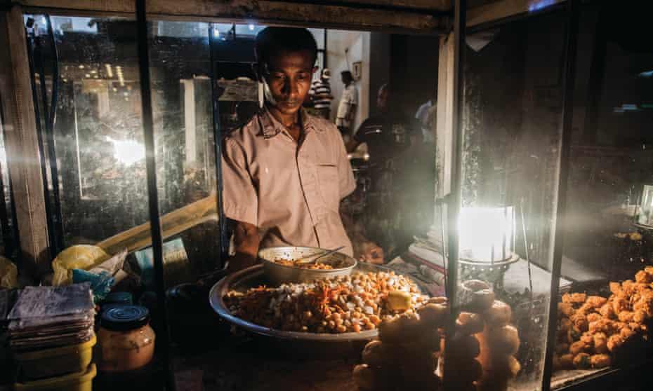 late night street food in Jaffna.
