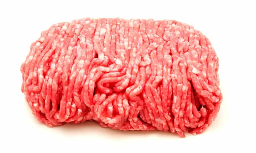 Raw beef mince