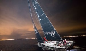 Perpetual Loyal sails up the Derwent river towards Hobart early on Wednesday morning. The supermaxi smashed the previous Sydney to Hobart record by almost five hours.