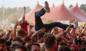Crowdsurfing at Reading festival