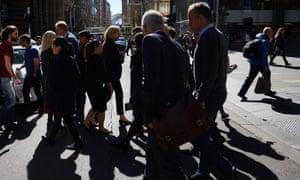 People walking in Sydney