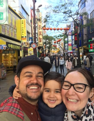 Christian, Kirsty and Zadie in Japan