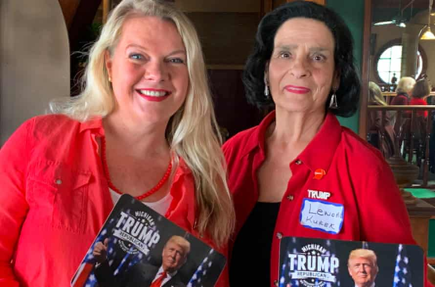 Women for Trump co-founder Meshawn Maddock and Lenore Kurek.