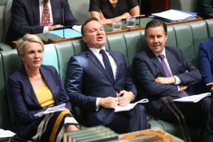 The shadow treasurer, Chris Bowen, fires up during question time