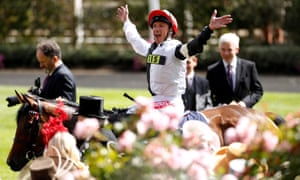Frankie Dettori returns triumphant on Star Catcher after the Ribblesdale Stakes.