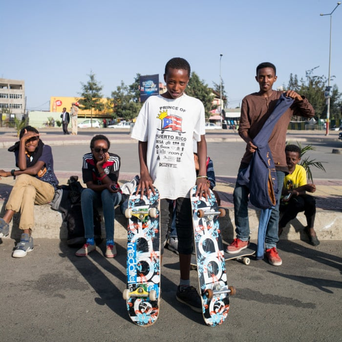 The young skaters taking on ethiopias capital in pictures world news the guardian