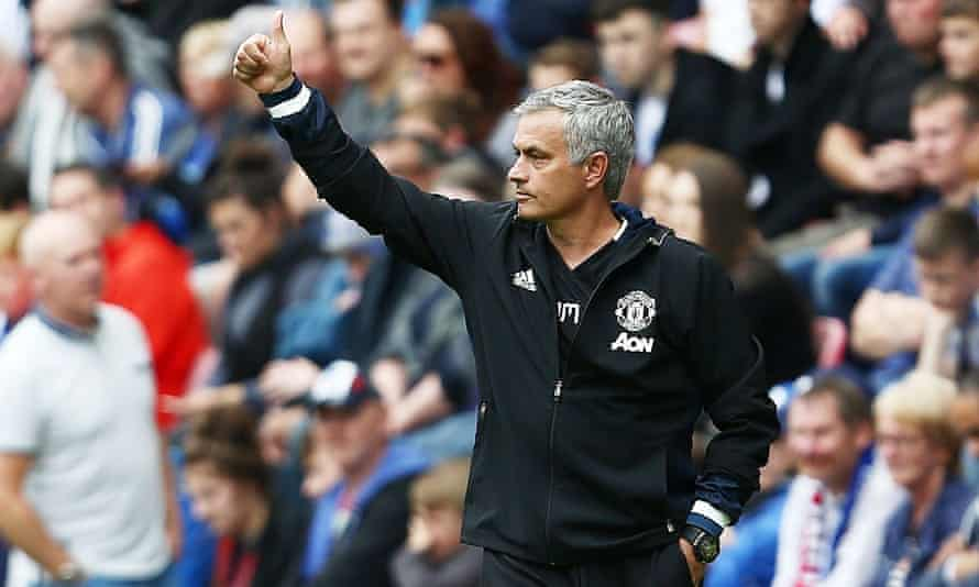 José Mourinho was pleased with Manchester United's display in his first game in charge, a 2-0 win over Wigan Athletic in a friendly at the DW Stadium