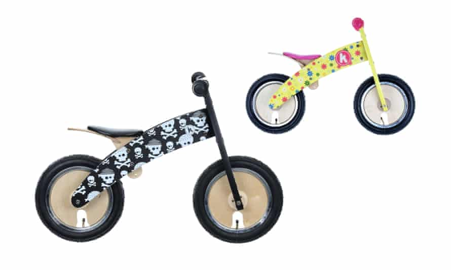 This Kurve balance bike by Kiddimoto looks a bargain at £49.99, compared to the flowery Kurve model aimed at girls