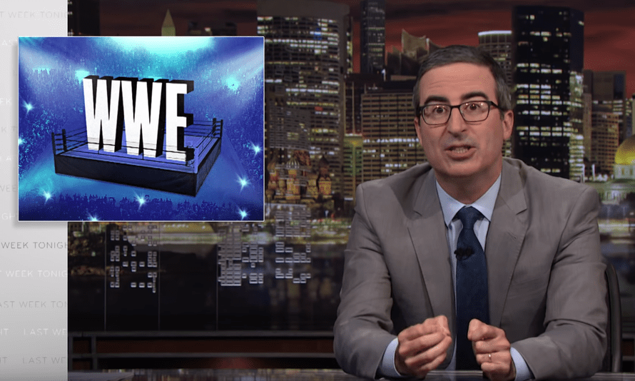 John Oliver: Considering that WWE Chairman and CEO Vince McMahon 'is a billionaire on the broken backs of his non-employees, the very least he could do is show the same dedication to wrestlers that they have shown to his company'.