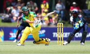 Meg Lanning batting against Sri Lanka