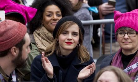 Watson during the Women's March on Washington.