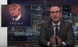 'Trump has finally chimed in with his two cents on how to tackle this crisis and it involved allotting, for the 2.6 million Americans addicted to opioids, literally about two cents each' ... John Oliver.