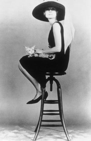 Hepburn on a stool