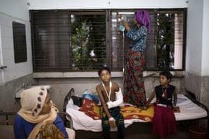 Patients recover at the Sadar Hospital in Cox's Bazar, Bangladesh