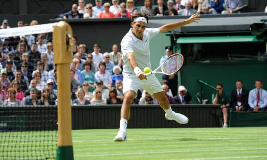 Roger Federer at Wimbledon in 2012.