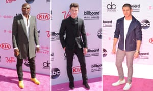 Seal, Shawn Mendes and Nick Jonas on the red carpet.