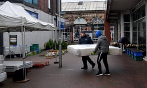 Traders at Longton market in Stoke-on-Trent