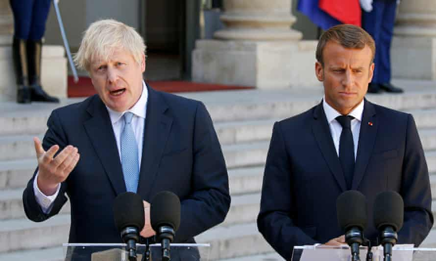 Boris Johnson and Emmanuel Macron at the Elysee Palace in Paris on 22 August 2019. 'The central question is whether this is anything more than a game.'