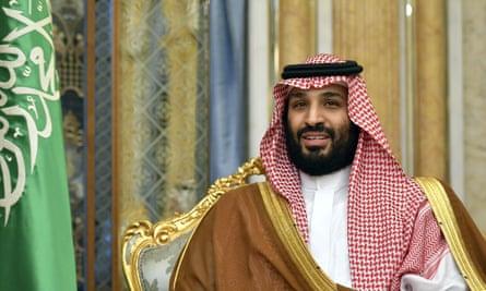 Saudi Arabia's Crown Prince Mohammed bin Salman attends a meeting with U.S. Secretary of State Mike Pompeo in Jeddah, Saudi Arabia, on Wednesday, Sept. 18, 2019. (Mandel Ngan/Pool Photo via AP)