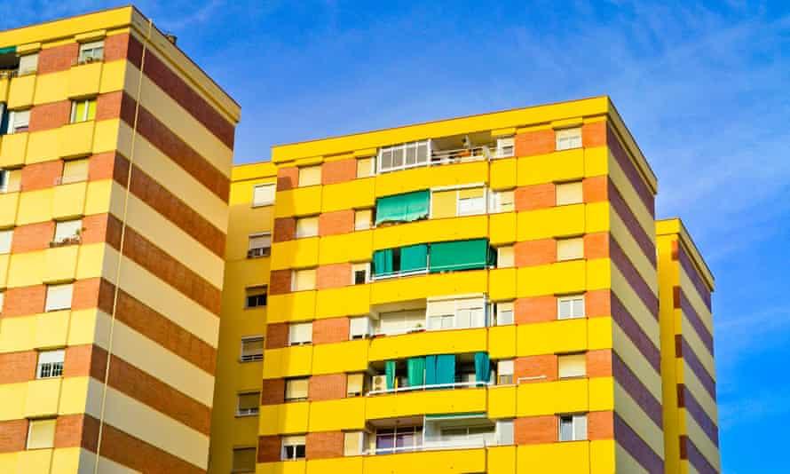 Apartment blocks in the Barceloneta district of Barcelona