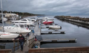 The yacht club in Zelenogorsk on the Gulf of Finland where England will train during the 2018 World Cup in Russia