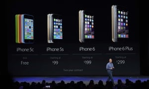 Apple vice president Phil Schiller introducing the iPhone 6 and 6 Plus