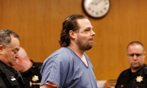 Jeremy Christian attends the jury selection for his trial  in Portland, Oregon. (Photo by John Rudoff /AFP)