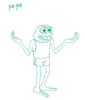 Matt Furie's Pepe the Frog from his graphic novel Boy's Club.