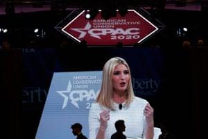 Ivanka Trump speaks on Saturday at the convention.