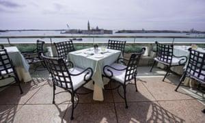 The rooftop terrace restaurant at Hotel Danieli Venice.