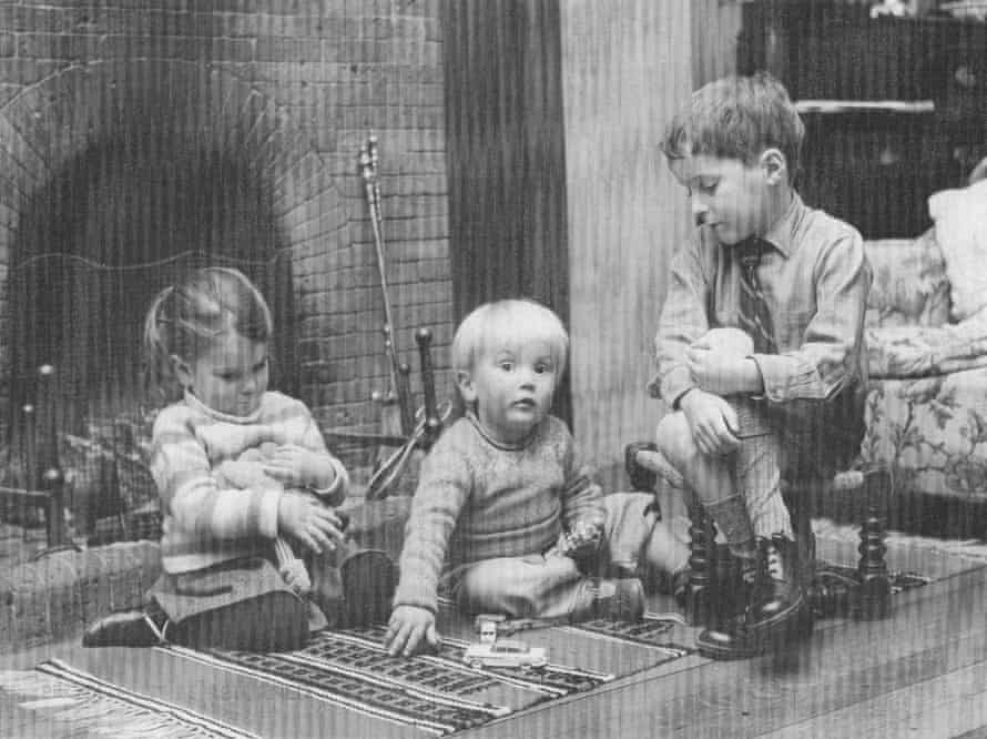 Rowan and Charles Moore at home in Sussex with their sister Charlotte in the 1960s.