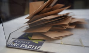 A ballot box in Brittany during France's regional elections