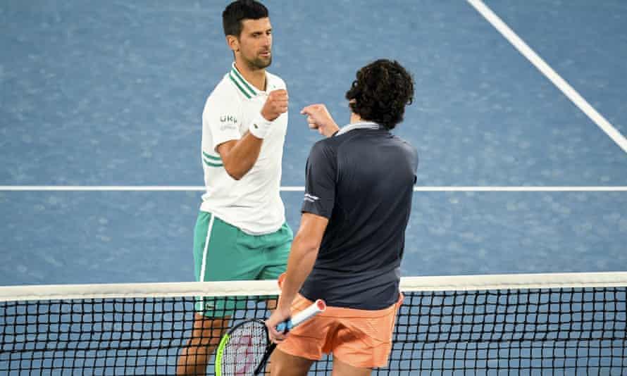 Novak Djokovic overcame his fitness doubts to defeat Milos Raonic at the Australian Open