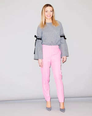 Jess Cartner-Morley in a top with statement sleeves