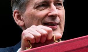 Philip Hammond with red budget box