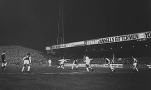 Masterly touch from Brazilian star Pele (extreme left), watched by Aston Villa's Pat McMahon, Santos's Nene and Villa's Charlie Aitken (r). Villa beat Santos 2-1 in the friendly match at Villa Park.