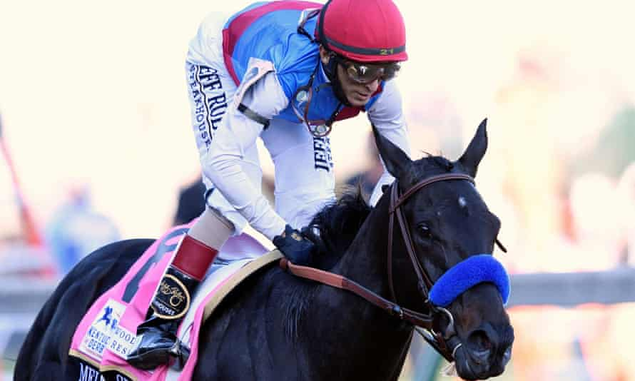 John Velazquez guides Medina Spirit to victory at the Kentucky Derby earlier this month