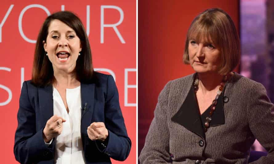 Liz Kendall and Harriet Harman. Kendall said the acting leader was 'absolutely right' with her comments on welfare reform.