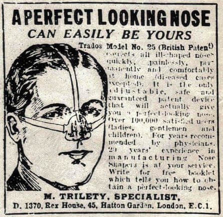 Advertisement for a nose shaper