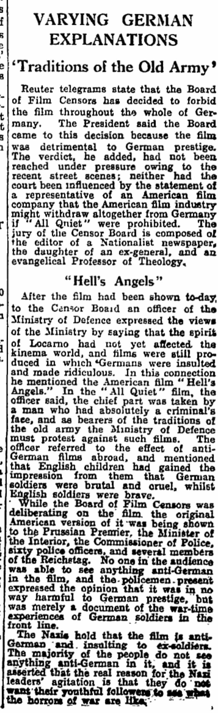 The Guardian, 12 December 1930.