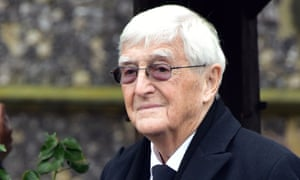 Michael Parkinson at the funeral for Ronnie Corbett.