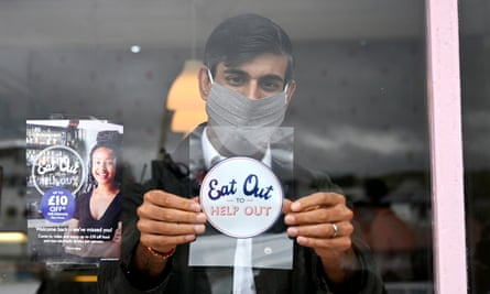 Chancellor Rishi Sunak promoting eat out to help out in Scotland.