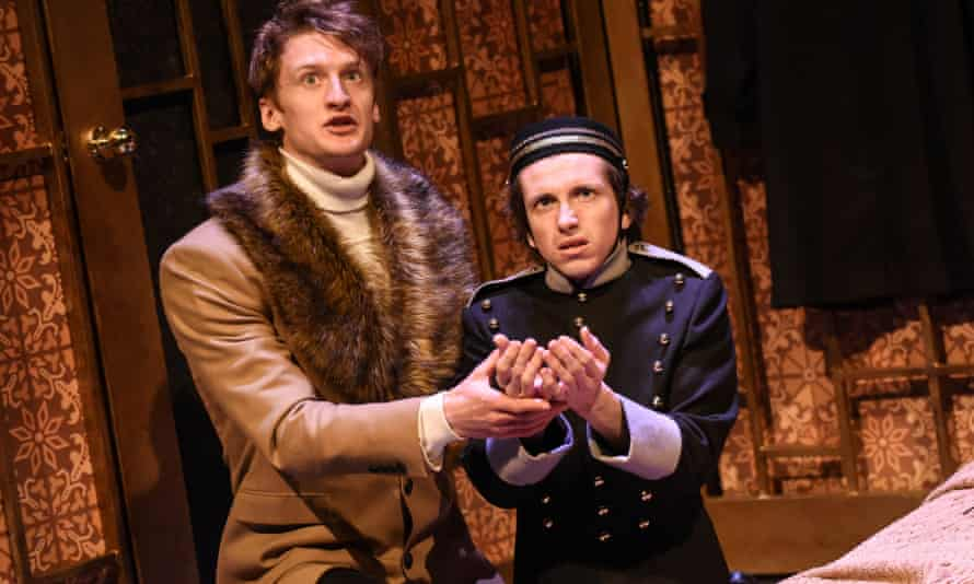 Robin Morrissey and Michael Keane in The Government Inspector at West Yorkshire Playhouse, Leeds