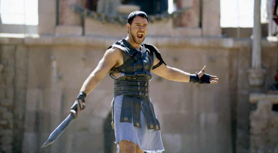 Maximus attitude … Russell Crowe in Gladiator.