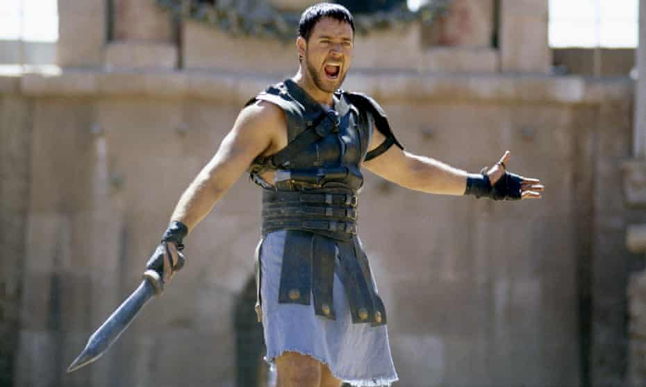 Russell Crowe as Maximus in Gladiator.