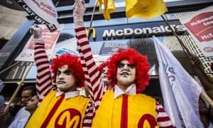 McDonald's workers in São Paulo, Brazil