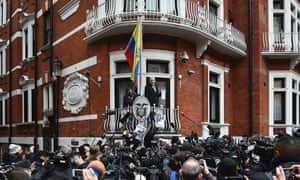 WikiLeaks founder Julian Assange addresses the media in February 2016.