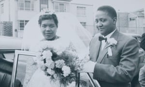 Tenata and her husband George on their wedding day in Wolverhampton.