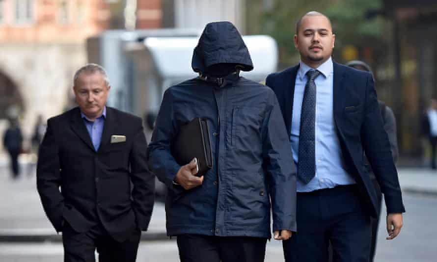 Mazher Mahmood arrives at the Central criminal court in London.
